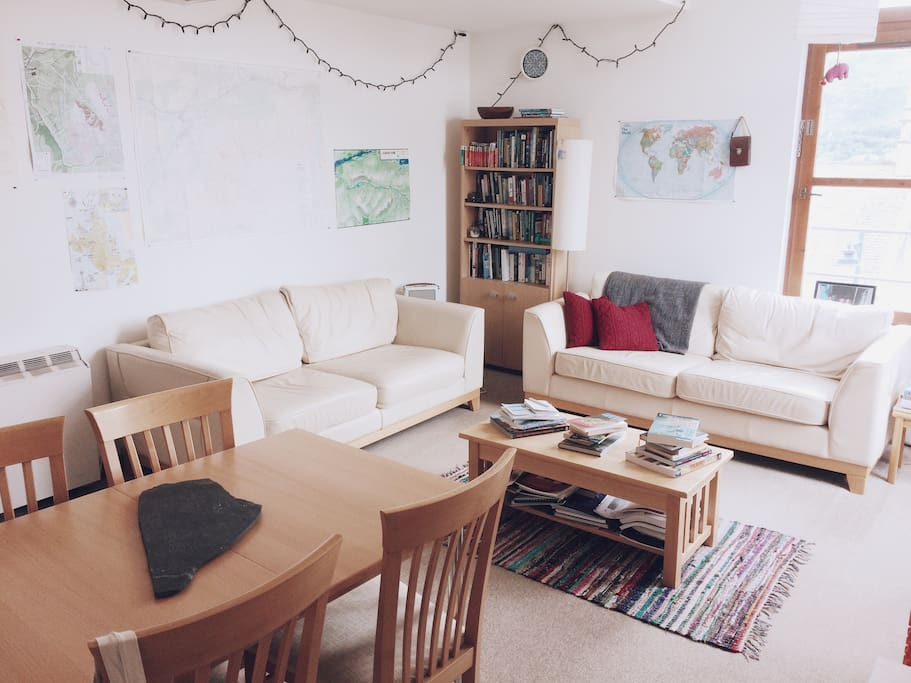 Dining area & communal living space.