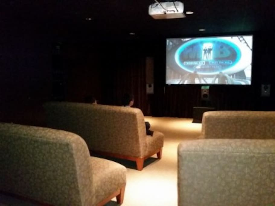 Movie theatre available for guest use