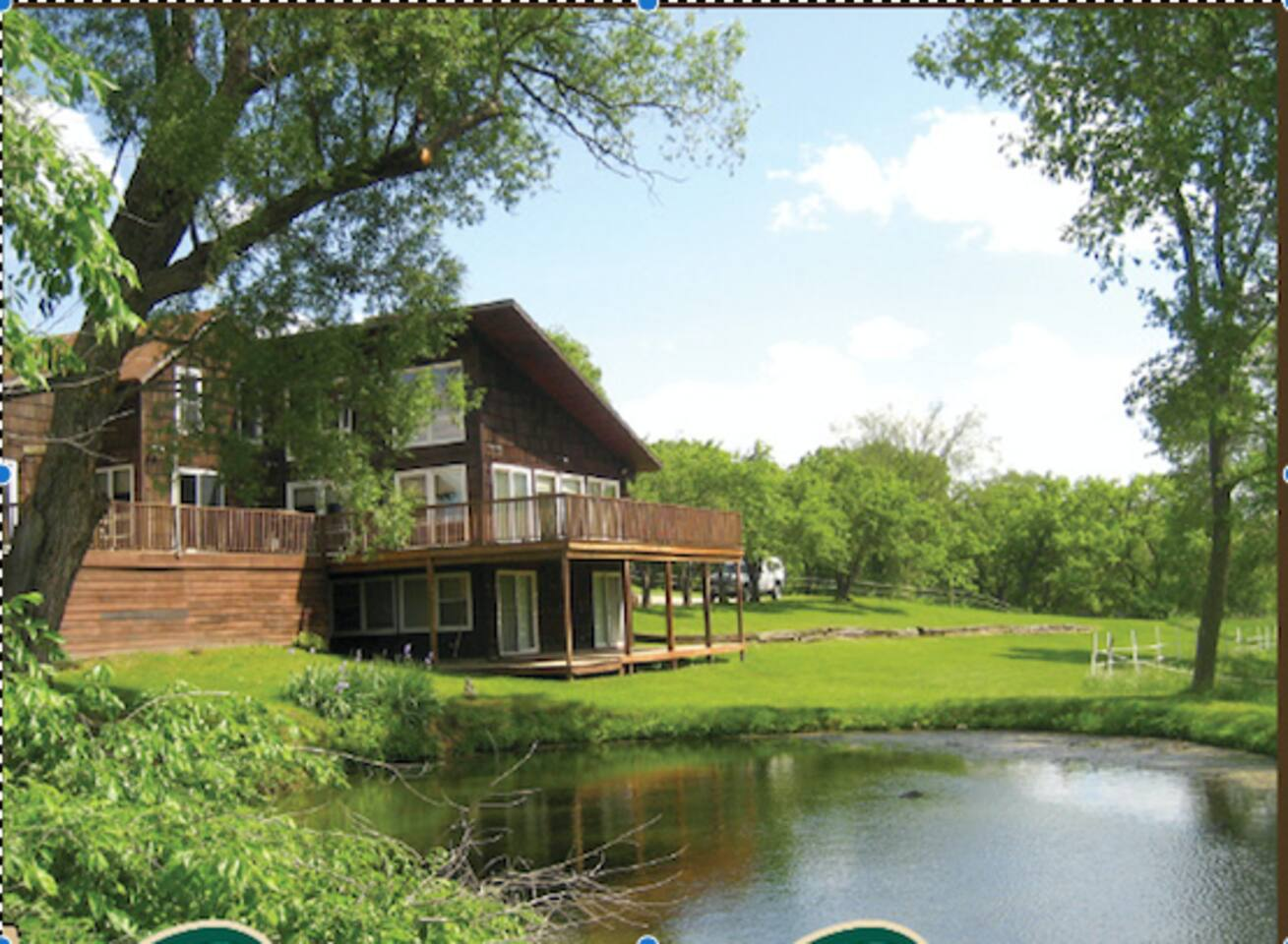Guest have the lower level rooms and deck of our lodge.