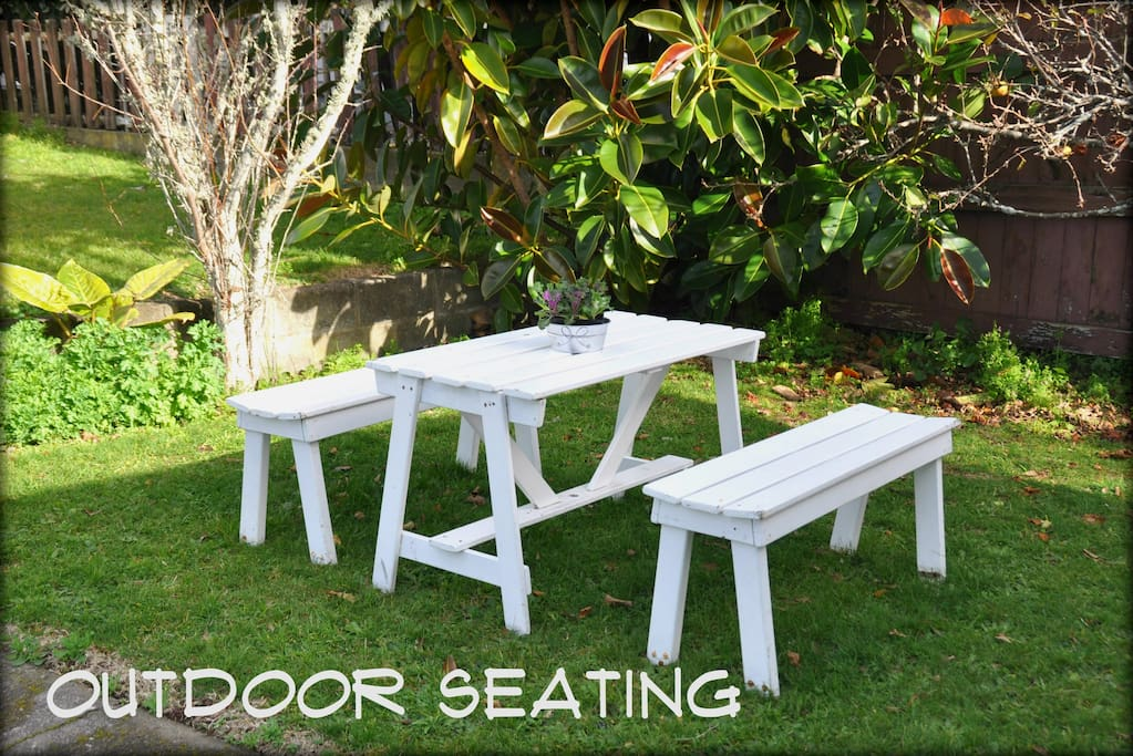 Outdoor Seating in Afternoon Shade