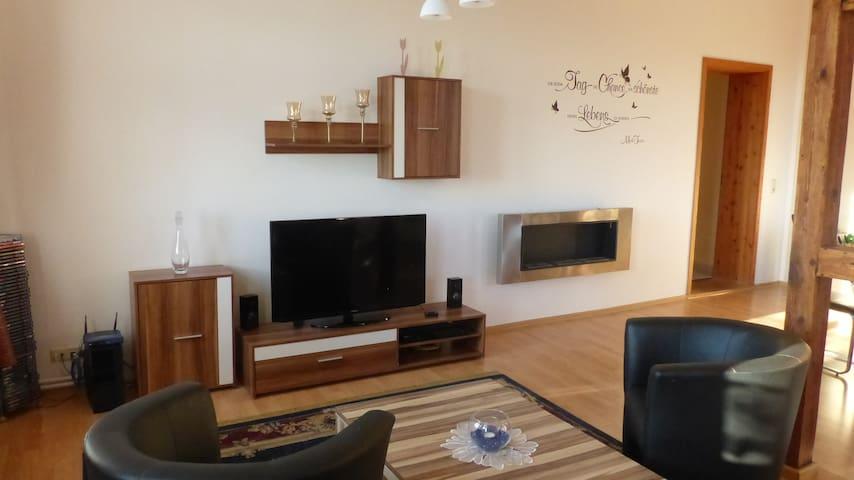 4-Sterne Ferienwohnung OG mit 105m² - Gützkow - Apartament
