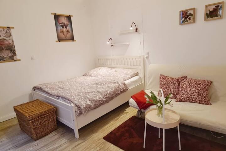 Apartment mit Garten, 10 min zu Fuß in Altstadt