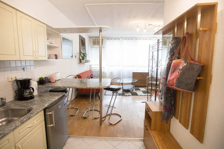Bright, cosy studio at Gellert Bath for 4 people