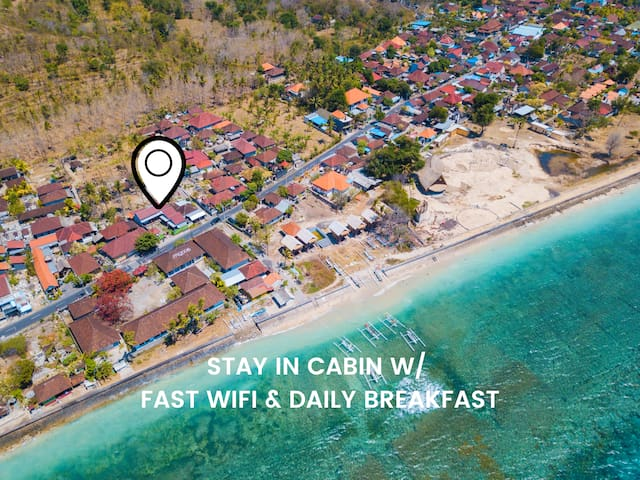 Authentic Cabin w/ High Speed Wifi at Nusa Penida