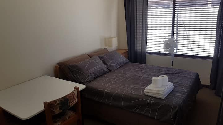 Comfortable double bed bedroom - self contained