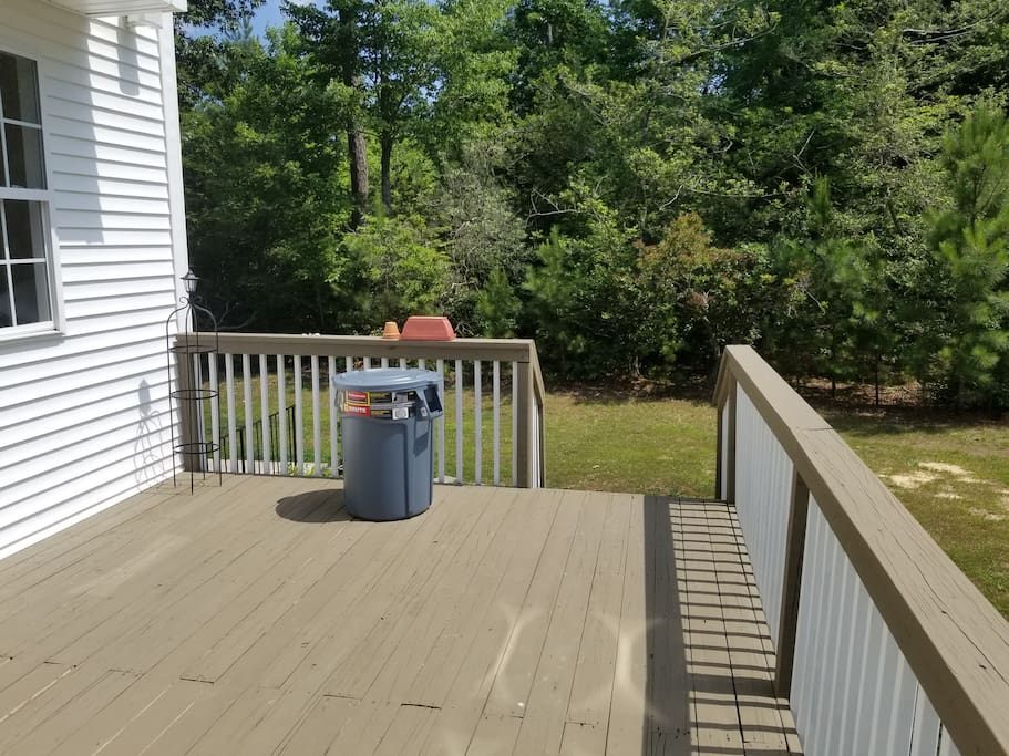 Back deck entrance