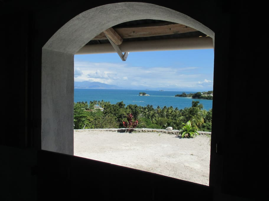 The view from inside the house.