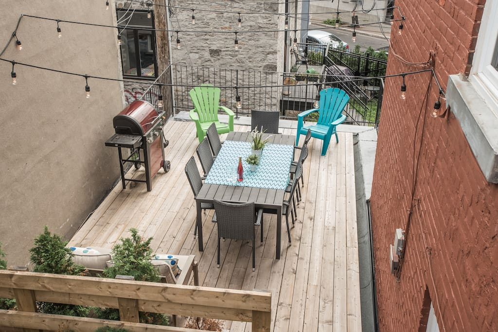 Your own private patio with BBQ!