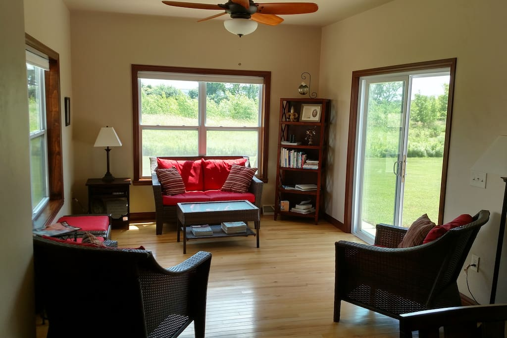 Looking into Sun Room from Dining Room