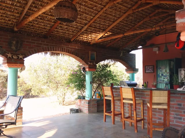 Kitchen and Dining Palapa area