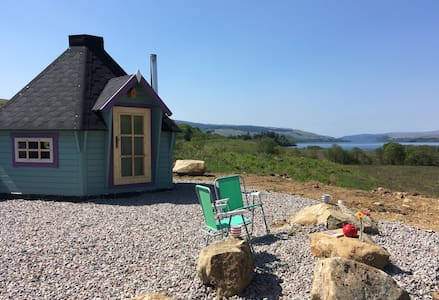 Romantic Wood Cabin -spectacular lochside glamping