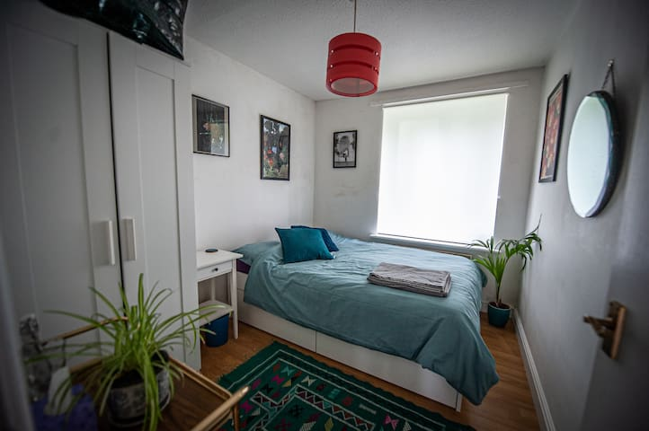 Room in spacious, sunny flat - edge of city centre