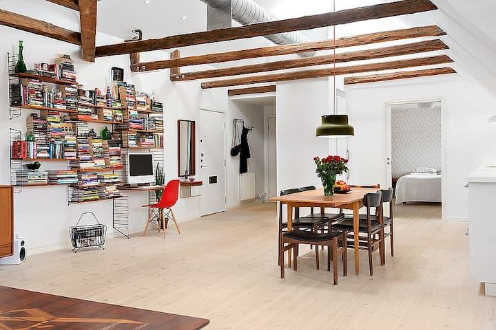 Beautiful loft apartment - Malmö - Apartemen