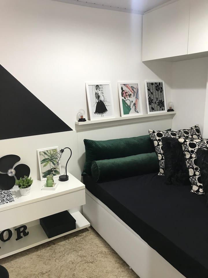 2 quartos de casal - Ao lado da Vila Germânica