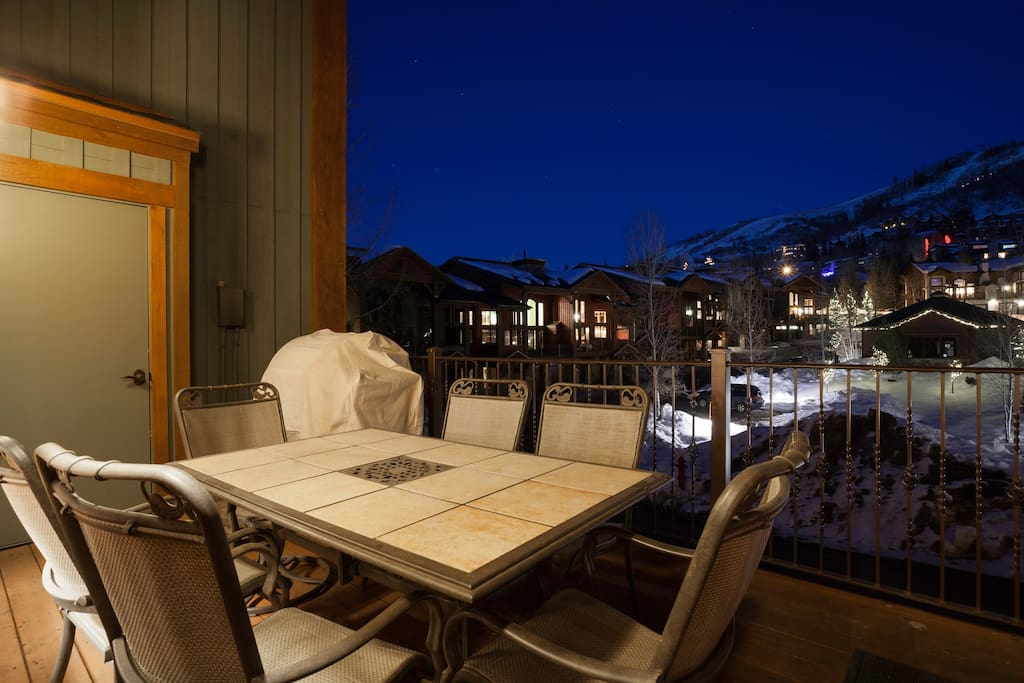 Deck with Mountain and Gondola Views
