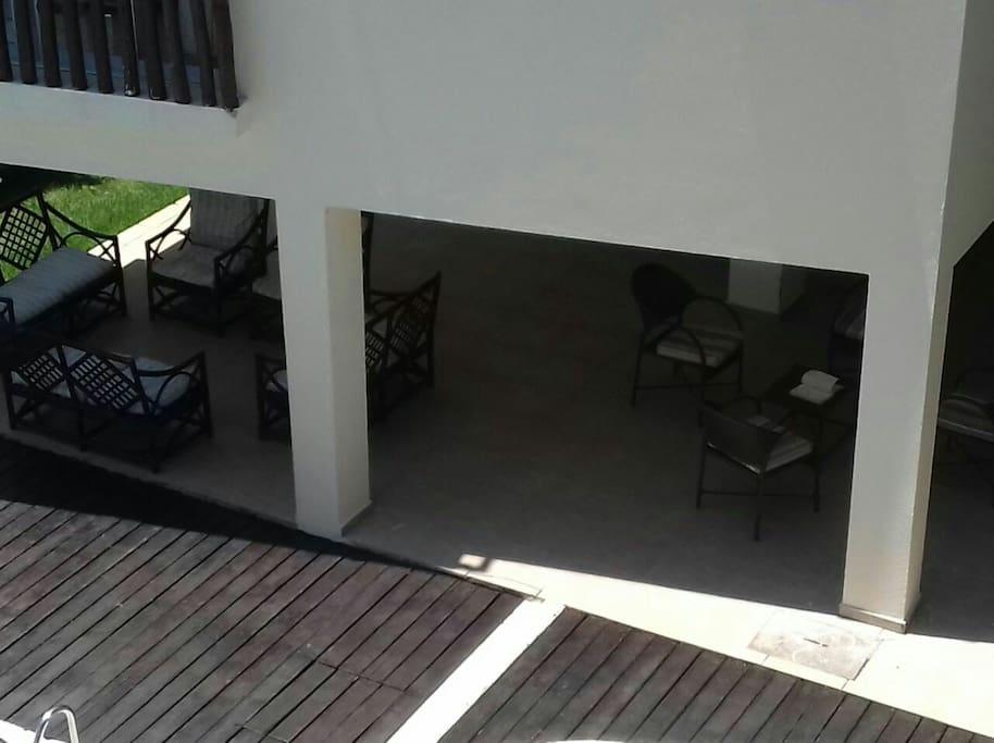 área de lazer do condomínio
