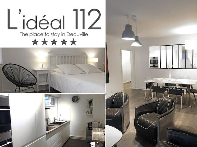 L'IDEAL 112 (2ch, 85m2, parking) Deauville coeur