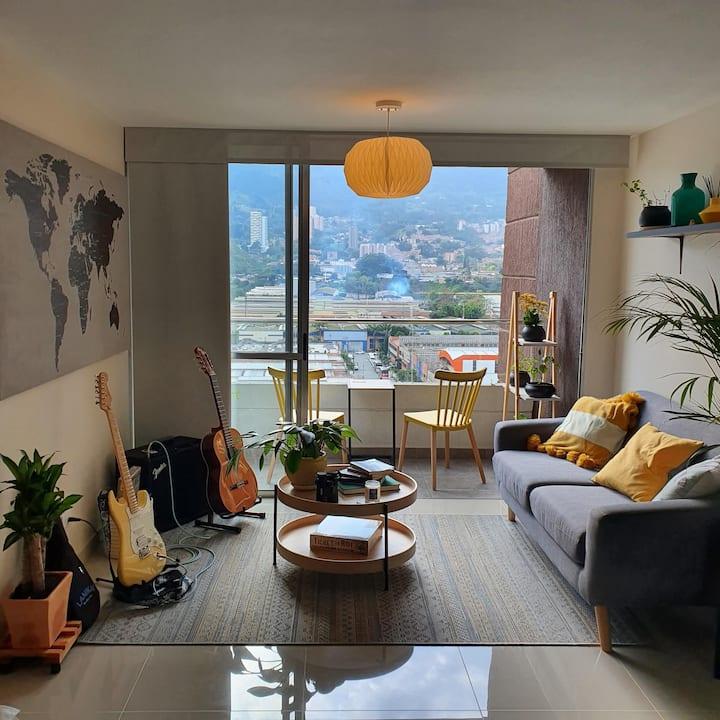 Scandinavian design apartment with great views