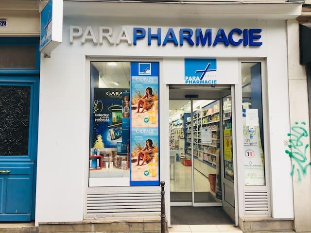 파리 퐁네프 도미토리 ( 여성 2인실 - A - 1 )동네 약국 화장품 1분거리