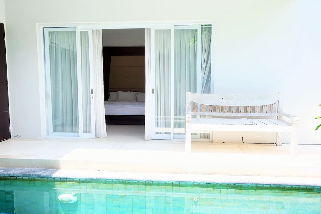 Swimming pool , in front of Master Room and dining area