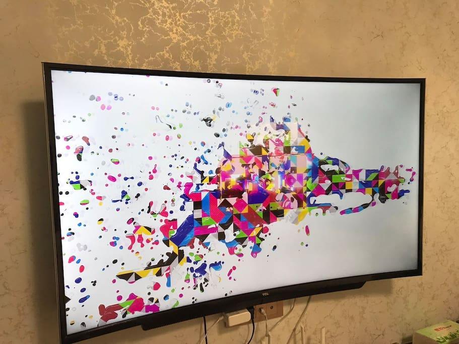 48寸曲屏电视