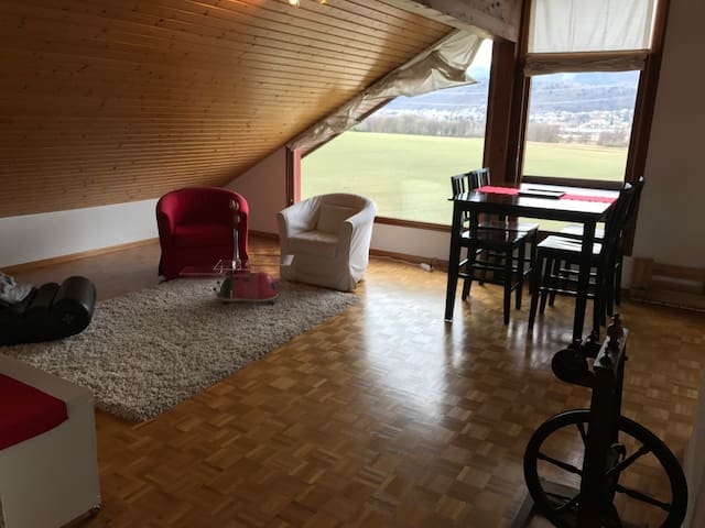 Top floor loft apartment with a view - Bogis-Bossey - アパート