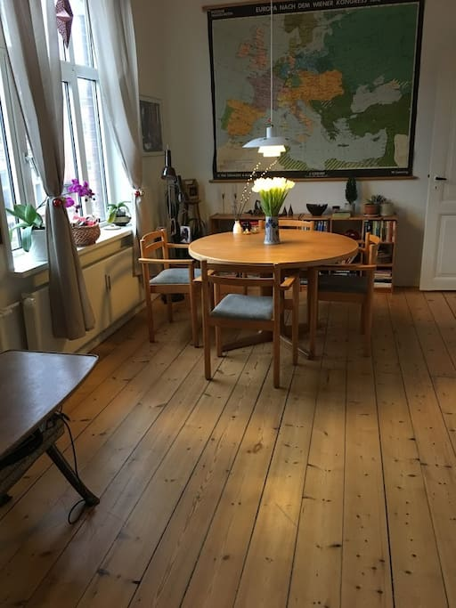 Dining table that seats four