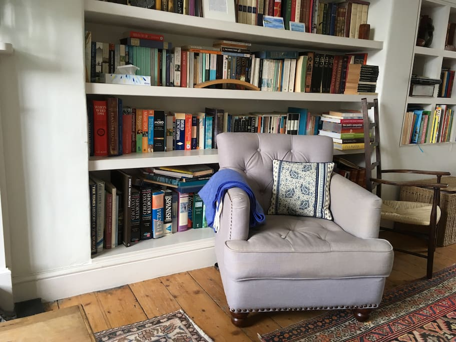 Many books to enjoy throughout the house