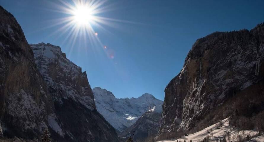 Willkommen im Tal der 72 Wasserfälle Lauterbrunnen