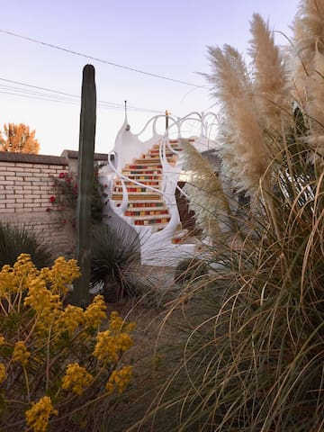 The stairs to your casita