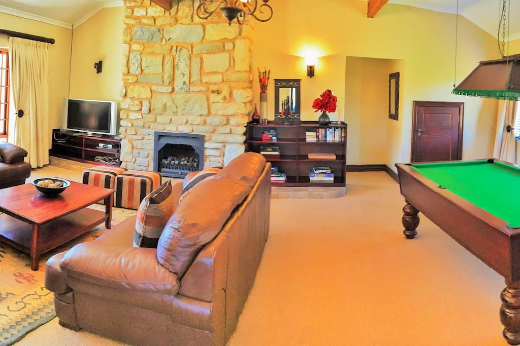 Pool and games room