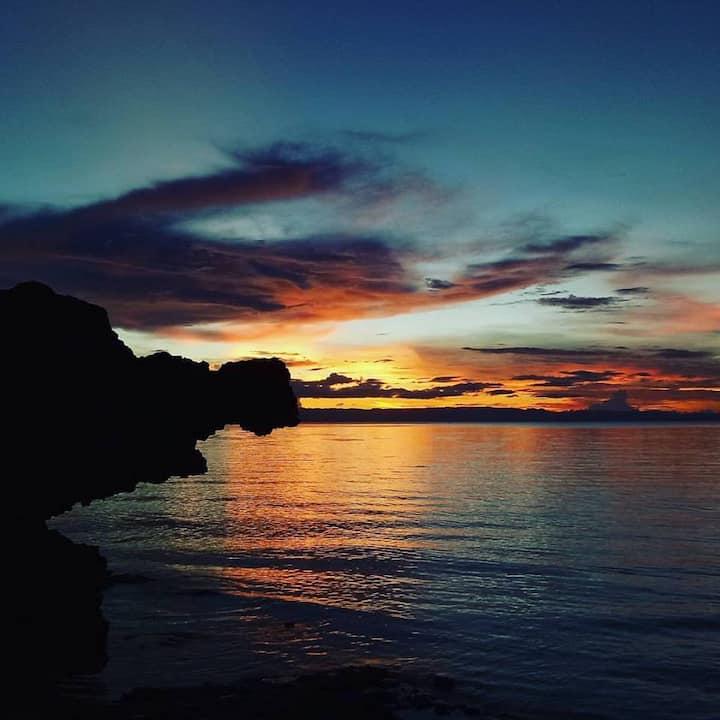 camotes private beach hut