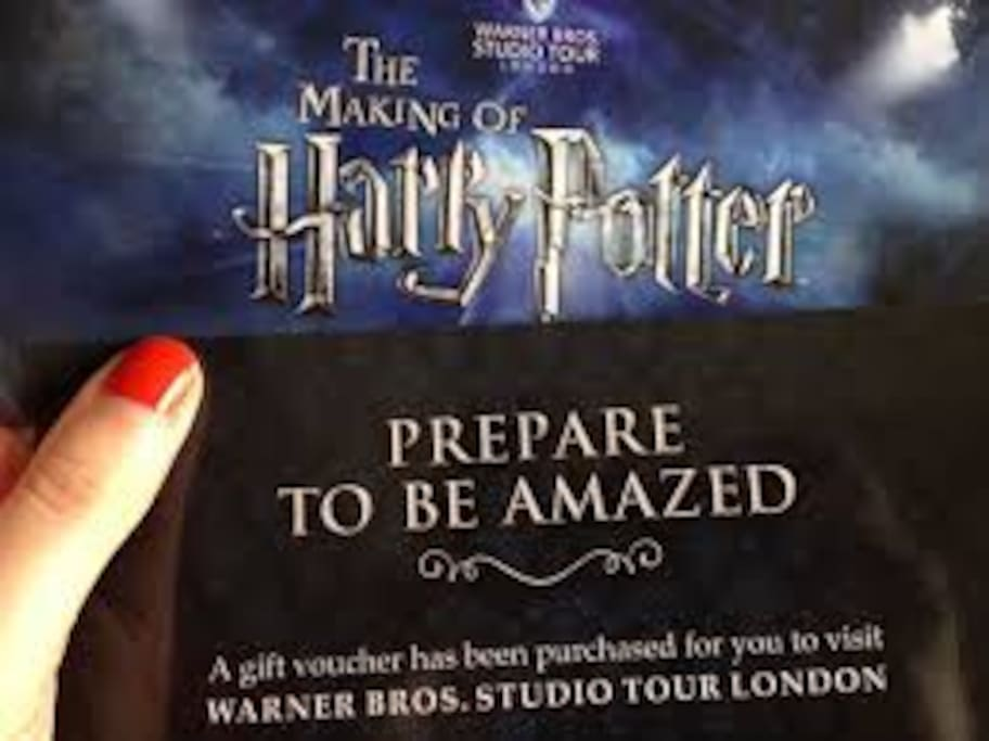10 minutes from Harry Potter studio tour