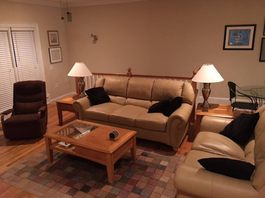 Spacious living room, WIFI throughout the townhouse.