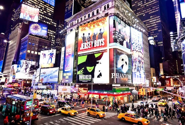 BROADWAY SHOWS @TIMES SQ   3 stops! ( 8 minutes )