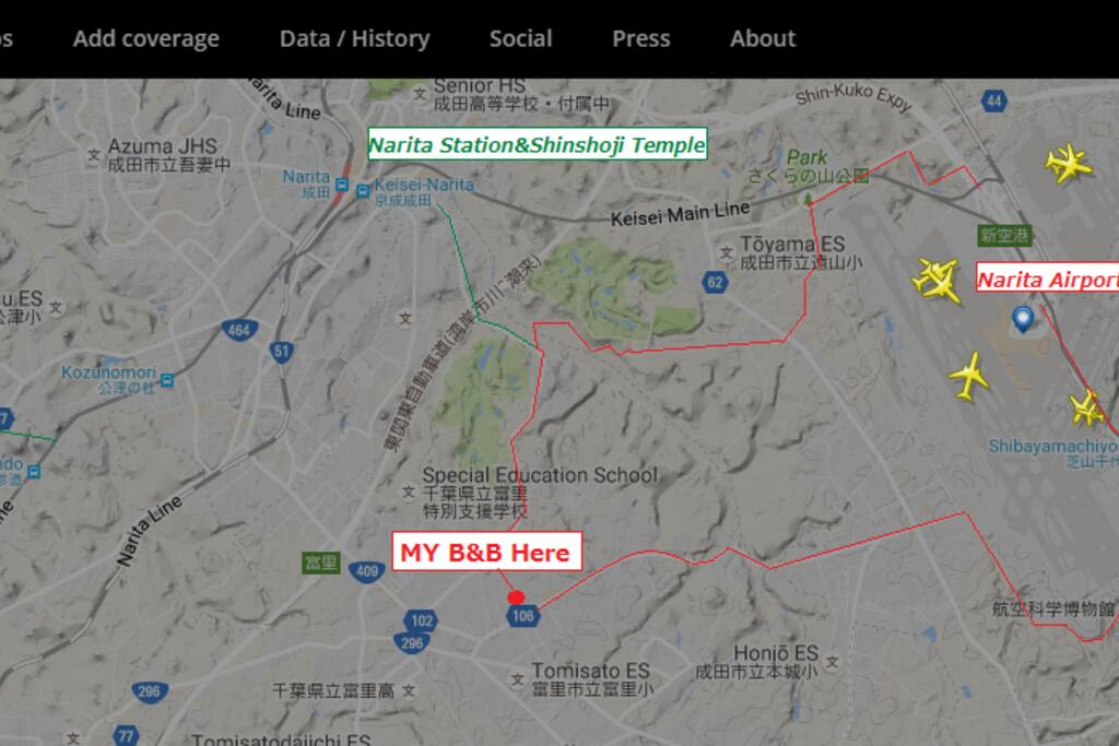 """Flight status has been checked by """"flight radar 24"""". Also contact of the pick-up, you do not need to arrive at the airport.  If you come by train or bus, please contact the departure station and the departure time (or train name)."""