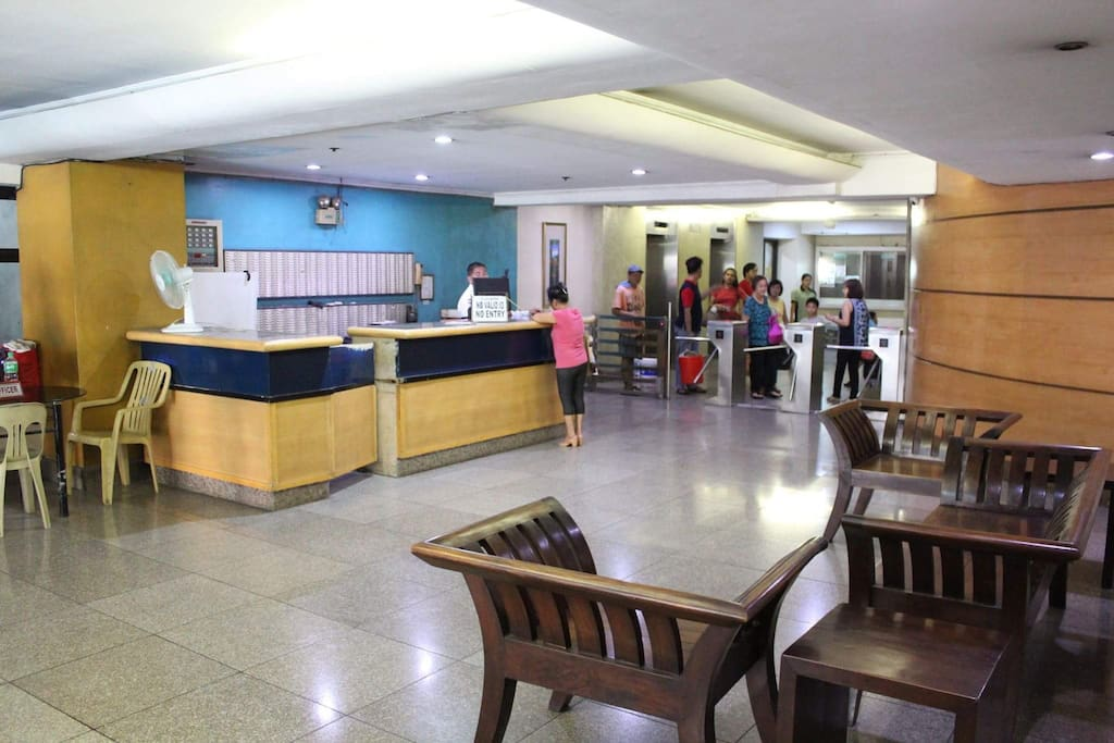 The lobby entrance area
