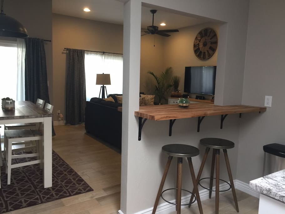 Bar Area, dining, living room