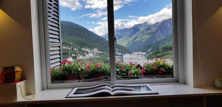 康定德乐•分享 •民宿        跃层、山景、花园屋顶