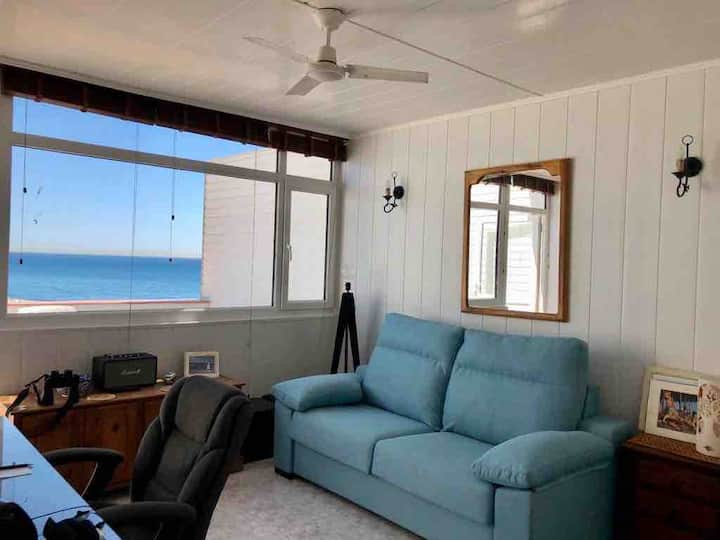 Beachfront studio with spectacular views (ages50+)