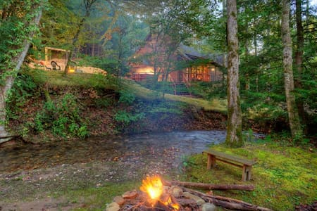 Buddy`s Creekside Bungalow - 埃利傑(Ellijay) - 小屋