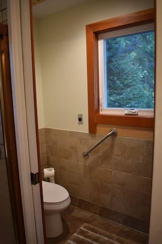 Master bath private toilet
