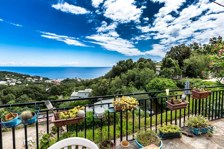 Rez de villa avec vue sur la mer - Brando - Casa