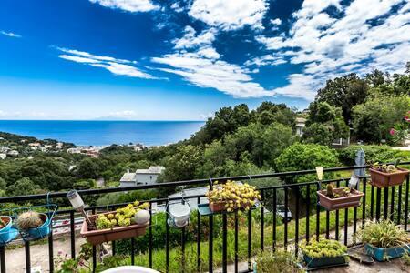 Rez de villa debut du Cap Corse ,vue sur la mer - Brando