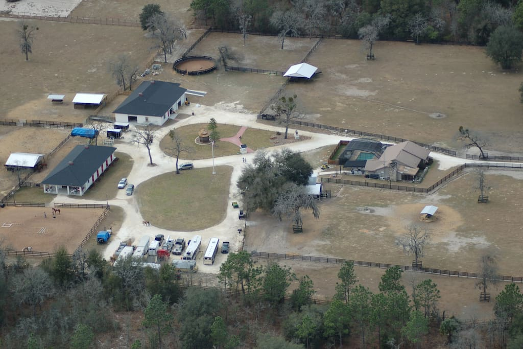 This is the ranch compound area