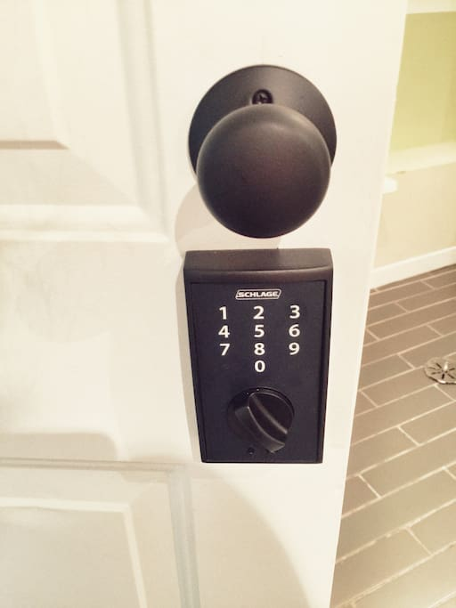 Keyless entry for easy check in / check out...