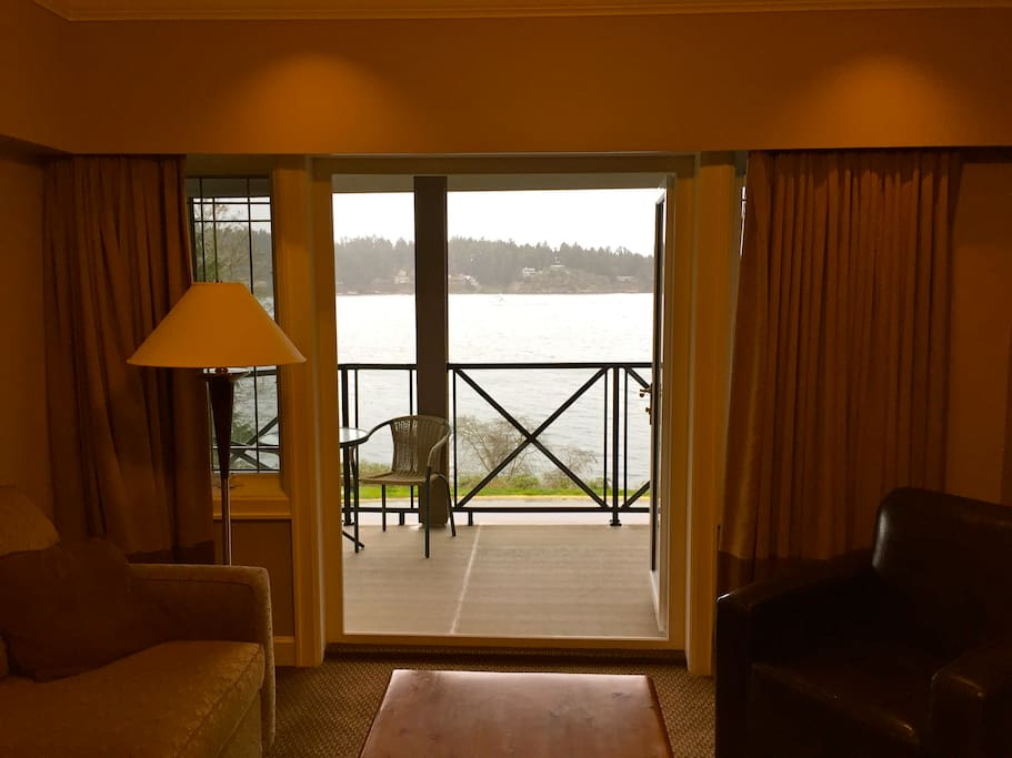 Beautiful ocean view from the living room or sit out on our wrap-around deck and enjoy the ocean air