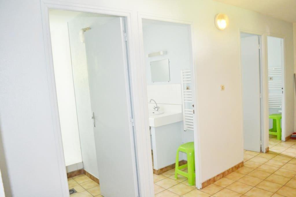 Salles de bains communes