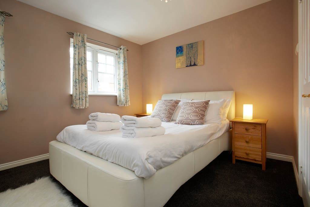 Master bedroom with plenty of storage and built in wardrobes