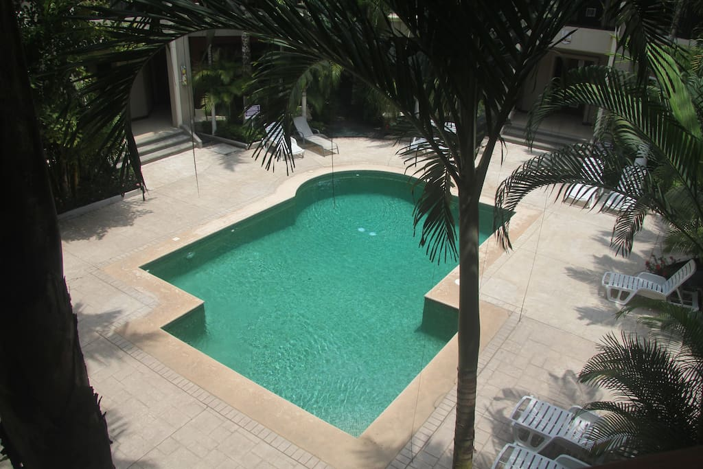 pool from condo
